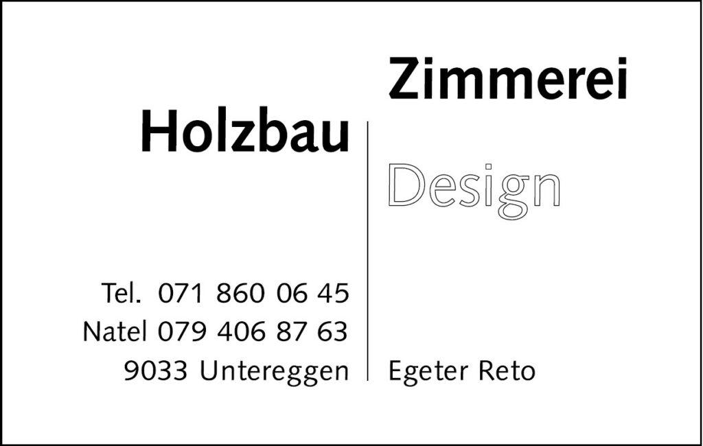 Reto Egeter, Holzbau Zimmerei Design
